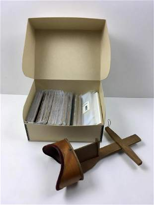 ANTIQUE STEREOSCOPE AND CARDS