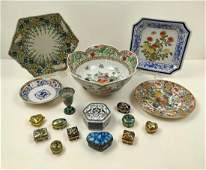 17 PCS OF CHINESE AND JAPANESE DECORATIVES