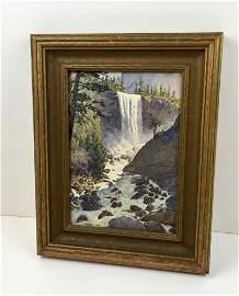 SIGNED ARTWORK OF WATERFALL BY GUNNAR WIDFORSS - update