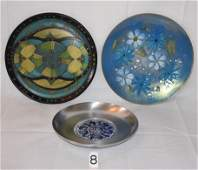 Grouping, Copper Enameled Wall Plaque, Etc.