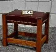 Oak Arts and Crafts Footstool