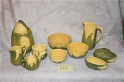 Group of Shawnee Maize Pattern pottery