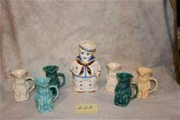 Shawnee Pottery Cookie Jars and Toby's