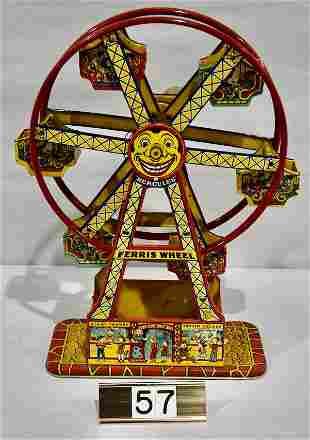 Toy J. Chein Tin Hercules Ferris Wheel