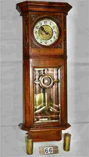 Nice German Wall 2-weight Clock