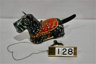 Marx Scotty Dog Windup Tin Toy