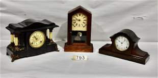 3 Antique Clocks