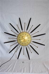 Mid-Century Modern Wall Clock