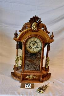 Ansonia Double Figural Shelf clock