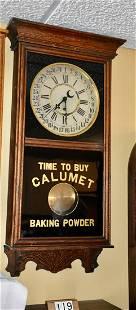 Oak Wall Advertising Regulator Clock