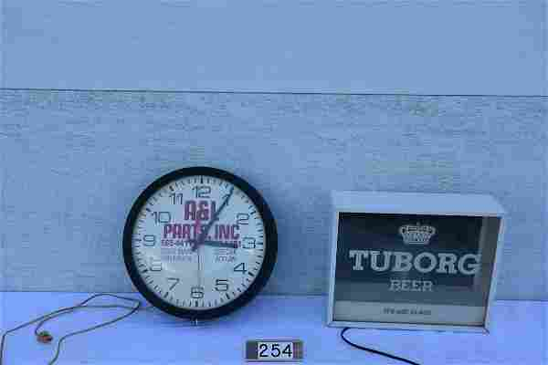 Advertising clock and sign