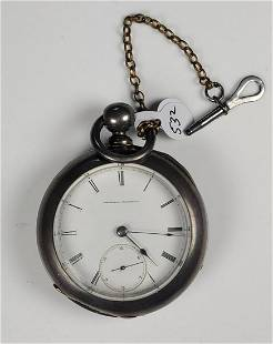 Elgin National Open Face Pocket Watch