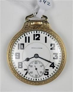 Hamilton Railroad Open Face Pocket Watch