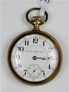 Hamilton Open Face Pocket Watch