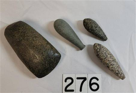 Native American Indian Artifacts - Axe & Stones