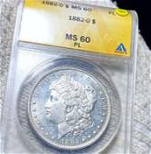 1882-O Morgan Silver Dollar ANACS - MS 60 PL