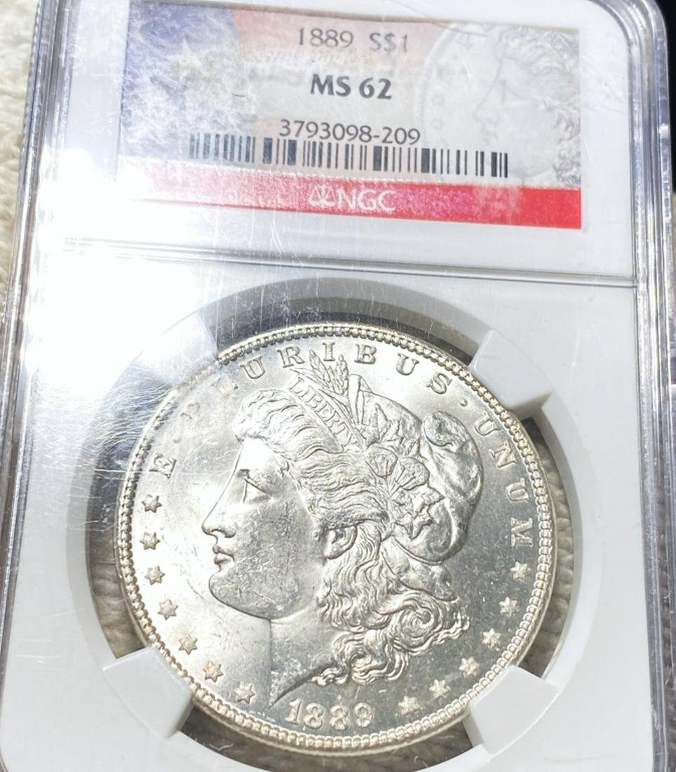 1889 Morgan Silver Dollar NGC - MS62