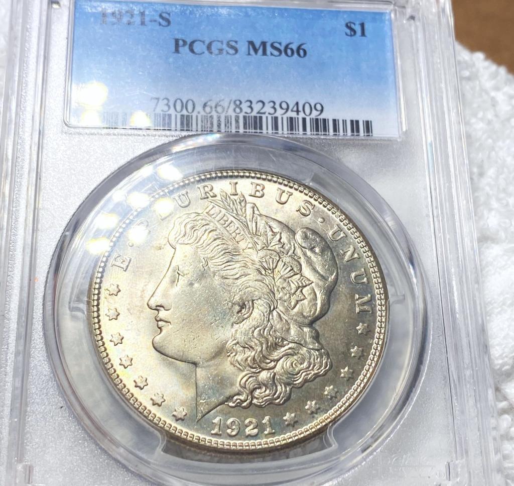 1921-S Morgan Silver Dollar PCGS - MS66