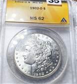 1902-O Morgan Silver Dollar ANACS - MS62