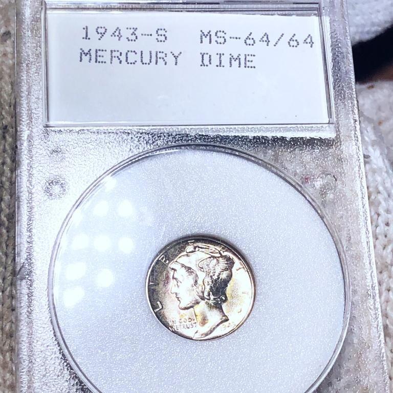 1943-S Mercury Silver Dime WMP - MS64