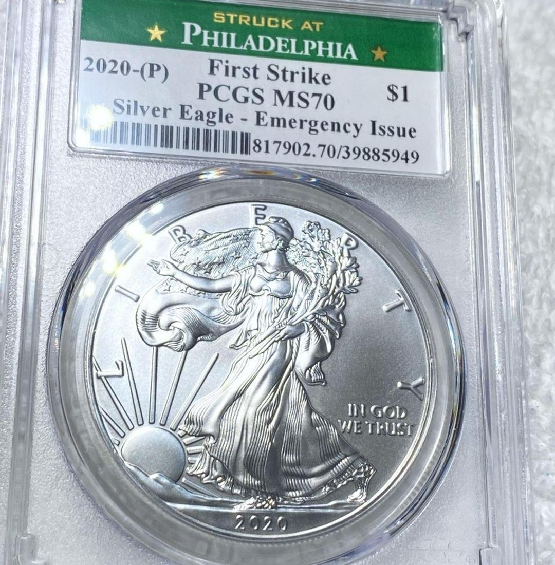 2020-P Emergency Strike Silver Eagle PCGS - MS70