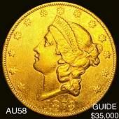 1873CC 20 Gold Double Eagle CHOICE AU