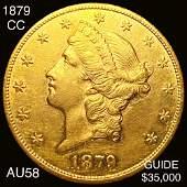 1879CC 20 Gold Double Eagle CHOICE AU