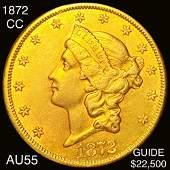 1872CC 20 Gold Double Eagle CHOICE AU