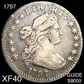 1797 Draped Bust Half Dime LIGHTLY CIRCULATED