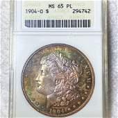 1904-O Morgan Silver Dollar ANACS - MS 65 PL