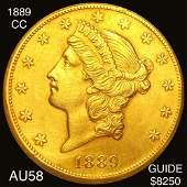 1889CC 20 Gold Double Eagle CHOICE AU
