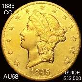 1885CC 20 Gold Double Eagle CHOICE AU