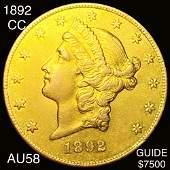 1892CC 20 Gold Double Eagle CHOICE AU