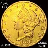 1876CC 20 Gold Double Eagle CHOICE AU