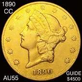 1890CC 20 Gold Double Eagle CHOICE AU
