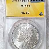 1878-S Morgan Silver Dollar ANACS - MS62