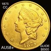 1875CC 20 Gold Double Eagle CHOICE AU