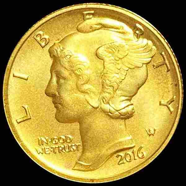 2016-W Gold Mercury Dime UNCIRCULATED