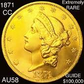 1871CC 20 Gold Double Eagle CHOICE AU