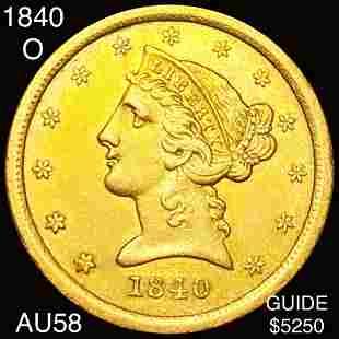 1840-O $5 Gold Half Eagle CHOICE AU