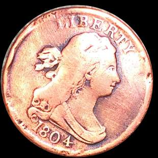 1804 Draped Bust Half Cent NICELY CIRCULATED
