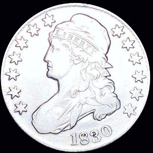 1830 Capped Bust Half Dollar LIGHTLY CIRCULATED