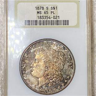 1878-S Morgan Silver Dollar NGC - MS 65 PL