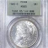 1902-O Morgan Silver Dollar PCGS - MS65