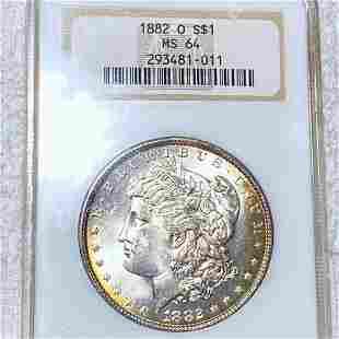 1882-O Morgan Silver Dollar NGC - MS64