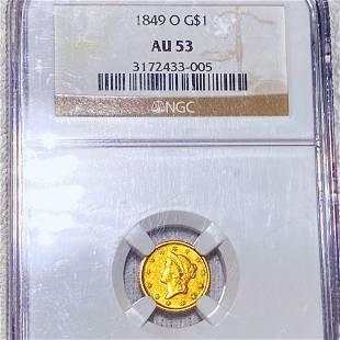 1849-O Rare Gold Dollar NGC - AU53