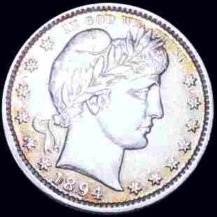 1894 Barber Silver Quarter NEARLY UNCIRCULATED