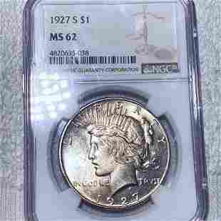 1927-S Silver Peace Dollar NGC - MS62