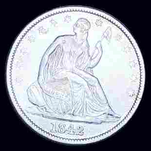 1842 Seated Half Dollar NEARLY UNCIRCULATED