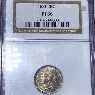 1881 Three Cent Nickel NGC - PF66